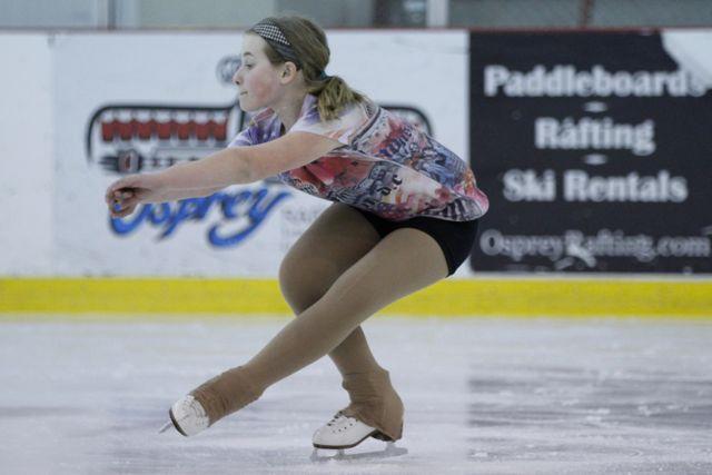 My goddaughter Elizabeth practicing her mad ice skating skills.